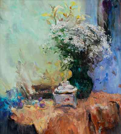 Bouquet and Porcelain Box